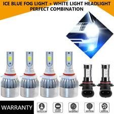 For GMC Canyon 04-2012 6PCS COB LED WHITE Headlight+ICE BLUE Fog Light HID Bulbs