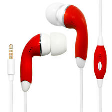Red Color 3.5mm Earphones Handsfree Remote Control with Mic. Stereo Headset