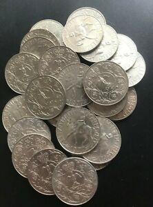 25x 1977 Royal Mint Queen Elizabeth II Silver Jubilee Crowns Less than a £1 each