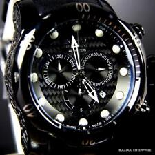 Invicta 52mm Reserve Venom Swiss Made Chronograph Black Leather Watch New