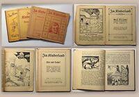 Im Kinderland 4 Bde 1920/26 Freunde Frohsinnige Leutchen Helfer Lies & Lache xz