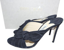 319171e3fa5d Jimmy Choo Navy Suede Keely Slide Mules 39.5 Sandal Bow Knot Shoes