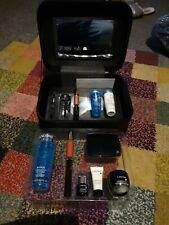 Lancome Beauty Gift Set 2 Layer In Case  eyelash curler Lipsticks bi-facil etc