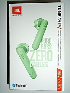 """JBL TUNE 220TWS True Wireless In-Ear Headset - Green """"NEW"""""""