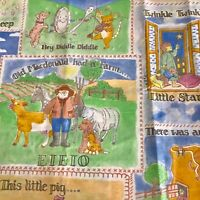 Sewing Fabric Nursery Rhymes Cotton Blend Pastel Colours