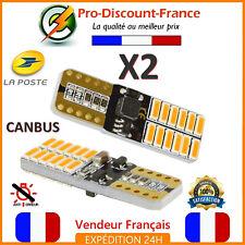 2 x ampoule LED T10 W5W 4014 ORANGE Clignotant CANBUS ANTI ERREUR VOITURE