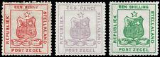 Stellaland Scott 1, 4-5 Perf. 12 (1884) Mint H F-VF, CV $320.50