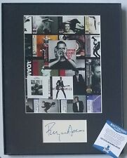 BRYAN ADAMS SIGNED DISPLAY BECKETT BAS COA AUTOGRAPHED INDEX CARD ROCK POP MUSIC