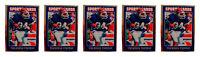 (5) 1992 Sports Cards #36 Thurman Thomas Football Card Lot Buffalo Bills