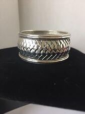 Silver Women's Woven Bracelet