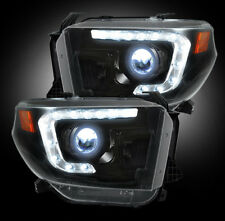 Recon Smoked Projector Headlights 264294BKC 2014-2016 Toyota Tundra Truck
