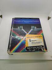 Principles Of Instrumental Analysis By Douglas A. Skoog Sixth Edition Hardcover