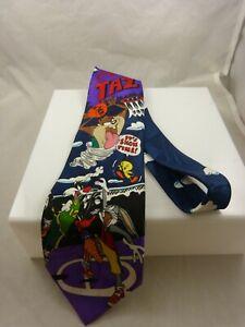 Tie Warner bros Taz Tweety colorful blue background mens acme hoops basketball
