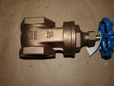 Lot of 2 Milano 2-1/2 Brass Gate Valve 200WOG M-300