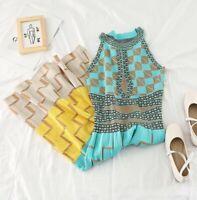 Ladies Aqua Marine Flippy Urban Fine Knit Yellow Beige Chic Occasion Dress 10