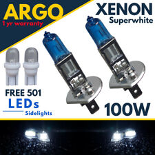 H1 Xenon White 100w Halogen Headlight 448 Super Bulbs Hid 12v Led 501 Side light