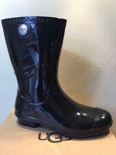 NEW UGG AUSTRALIA Sienna Waterproof Rubber Rain Boot Black Gloss Size 10 Women's