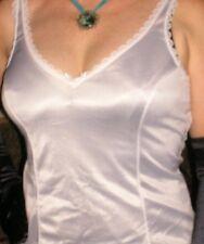 Usa 36 M Nylon Full Slip Contour Panel Lace Trim Satin Bow