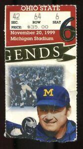 College Football Ticket 1999 Michigan Ohio State Tom Brady New England Patriots