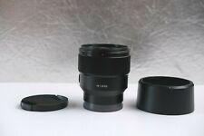 Sony FE 85mm lens f/1.8 - E-Mount (fast & sharp lens!)