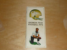 1972 GEORGIA TECH COLLEGE FOOTBALL MEDIA GUIDE  EX-MINT BOX 9
