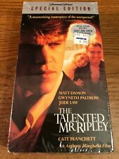 The Talented Mr. Ripley New / Sealed Vhs Vcr Video Tape Movie Jude Law, Gwyneth