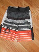 NWT - Reebok black, grey & orange swim trunks - 5/6 boys