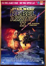 LucasArts REBEL ASSAULT II: HIDDEN EMPIRE Star Wars original poster 1995