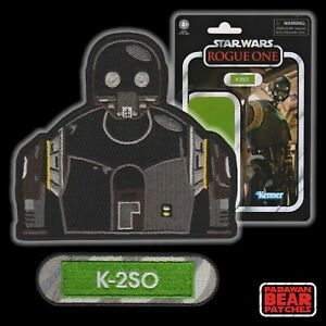 """Star Wars DROIDS """"The Heroes"""" K-2SO [from Rogue One] embroidered 2 patch set"""