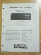 Original Onkyo Service Manual for the A-8057 Amp Amplifier~Repair