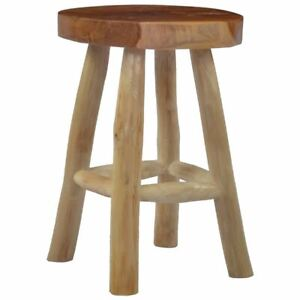 Stylish Wooden Stool Rustic Style Decor Furniture Brown Living Room Accent Seat