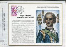 DOCUMENT CEF PREMIER JOUR  1980  TIMBRE   N° 2094 ROCHAMBEAU ARRIVEE NEWPORT