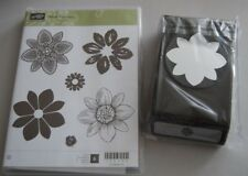 Stampin Up ~Petal Potpourri~ w/Matching Flower Medallion Punch Bundle