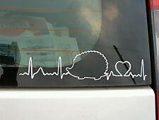 African enano Erizo latido del corazón, ventana, remolque, Coche, Pared Adhesivo