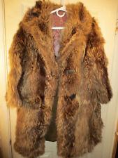 Vintage Women's Raccoon Fur Coat - see measurements