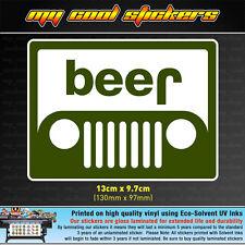 Beer Jeep Vinyl Sticker Decal, 4X4, window, bumper funny Wrangler Grand Cherokee