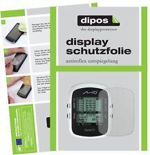 3x Mitac Mio Cyclo 105 HC Schutzfolie matt Displayschutzfolie Folie Display