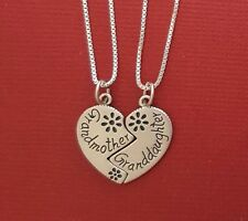GrandMother GrandDaughter Necklaces sterling silver Solid 925 pendants n chains