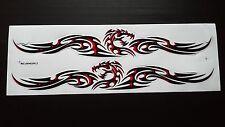 2 pc Body Hood Graphic Decal Sticker Racing Car Motocross Bike Skateboard Dragon