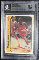 Michael Jordan ROOKIE Card 1986 Fleer Basketball Sticker BGS 8.5 Graded Beckett