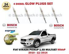 FOR FIAT STRADA PICKUP 1.3D MULTIJET 95BHP 2010-12/2014 DIESEL GLOW PLUGS SET 4