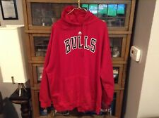 NWT Chicago Bulls Majestic Spell Out 80/20 Hoodie Sweatshirt SZ XXL - Cool