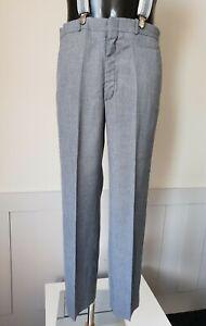 Vintage 1970s Farah Flat Front Trousers In Grey Wool Blend W33 L30 TJ90