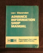 New Listing1981 Chevy Advance Info Shop Manual car truck chevrolet service st 356 81 Oem