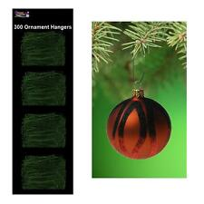 300 Multi-Purpose Christmas Tree Ornament Bauble Hooks - Green