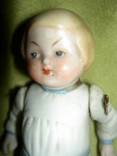 HERTWIG Germany antique all bisque, Campbell Kid doll romper, wire jointed arms