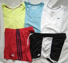 Womens Fitness Lot (5) UNDER ARMOUR, NIKE, ADIDAS & More Shirts & Shorts Sz M