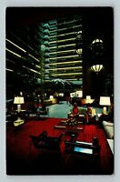 Atlanta GA, Regency Hyatt House, Most Unusual, Chrome Georgia c1969 Postcard