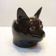 Black Cat Head Figurine Vase Pot Ceramic Plant Succulent Planter Flower Decor