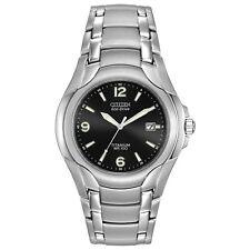 Citizen Eco-Drive Men's Black Dial Titanium Bracelet 40mm Watch BM6060-57F